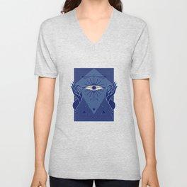 Meditation Yoga Buddhism Lotus Eye Gift Unisex V-Neck