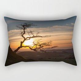 Black Mountain tree Rectangular Pillow