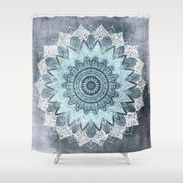 BOHOCHIC MANDALA IN BLUE Shower Curtain