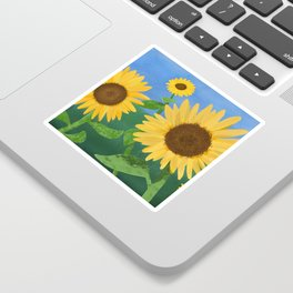 Sunflower Day Sticker