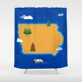 Iowa Island Shower Curtain