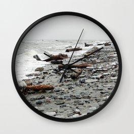 Driftwood Beach after the Storm Wall Clock