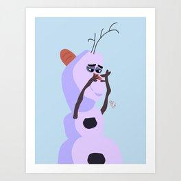Little Baby Unicorn Art Print