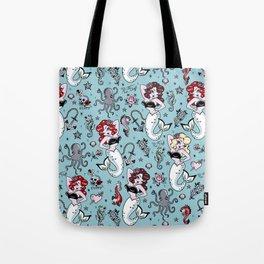985668e23cf5 Molly Mermaid vintage pinup inspired nautical tattoo Tote Bag