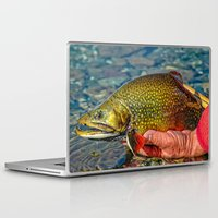 trout Laptop & iPad Skins featuring Trout by Edward M. Fielding