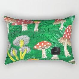 Mushroom Party Rectangular Pillow