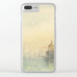 "J.M.W. Turner ""Venice: The New Moon – The Dogana from the steps of The Hotel Europa"" Clear iPhone Case"