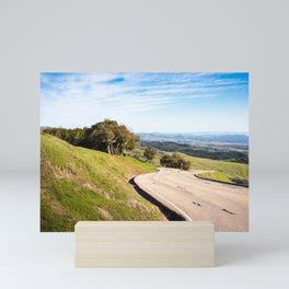 Winding road near Hearst Castle Mini Art Print