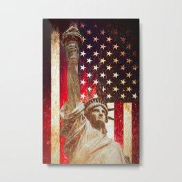 Lady Liberty by Brian Vegas Metal Print