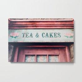 Tea & Cakes Metal Print