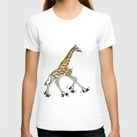 roller derby T-shirts featuring Giraffe Roller Derby by Twisted Tone
