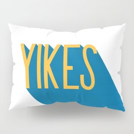 """Yikes"" Typography Pillow Sham"