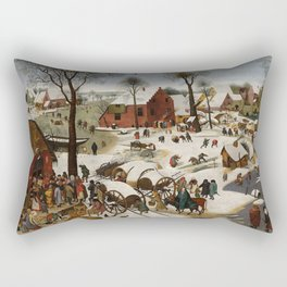 "Pieter Brueghel II (The Younger) ""The Census at Bethlehem"" Rectangular Pillow"