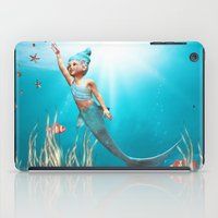 little mermaid iPad Cases featuring Little Mermaid by Simone Gatterwe