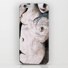 Rotten Apple: Turquoise (nude topless girl, erotic graffiti portrait) iPhone Skin