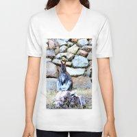 kangaroo V-neck T-shirts featuring Kangaroo by Raffaella315