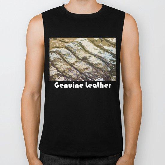 Genuine Leather Biker Tank