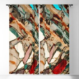 Abstract Mirror Button Baltimore Mosaic Print Blackout Curtain