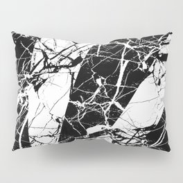 Rays Of Marble - Black and White, marble textured, abstract art Pillow Sham