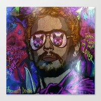 james franco Canvas Prints featuring JAMES FRANCO IS MY LOVER by AZZURRA DESIGNS