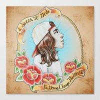 pierce the veil Canvas Prints featuring *Remastered* Vocalist Series-Vic Fuentes of Pierce The Veil by Maura Creighton