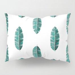 Banana Leaf Watercolor Pillow Sham
