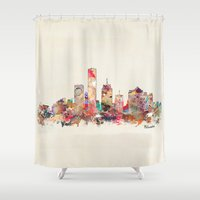 wisconsin Shower Curtains featuring milwaukee wisconsin  by bri.buckley
