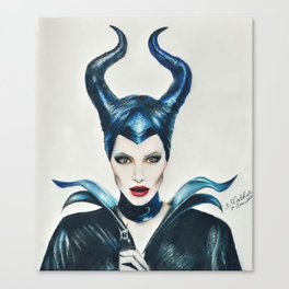 My take on Maleficent.  Canvas Print