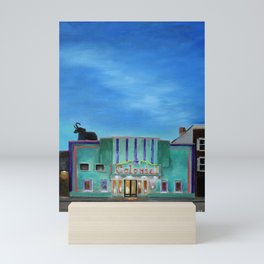 Evening at the Colonial Movie Theater Painting Mini Art Print