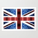 United Kingdom UK flag blue and red sparkles by pldesign