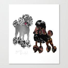 Zwei Pudel Canvas Print