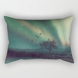 aurora borealis - silence  Rectangular Pillow