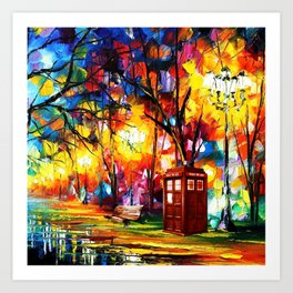 Tardis Dr Who Art Print