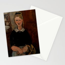 "Amedeo Modigliani ""The Pretty Housewife (La Jolie ménagère)"" Stationery Cards"