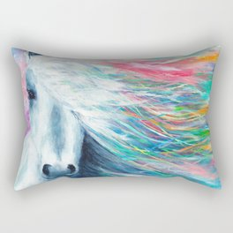 Rainbow Horse Rectangular Pillow