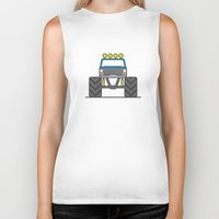 bigfoot Biker Tanks featuring #5 Bigfoot by Brownjames Prints