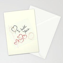 I love you doodle Stationery Cards
