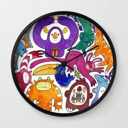 Wild Menagerie Wall Clock