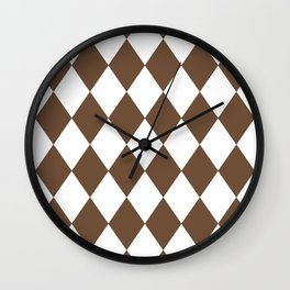 Diamonds (Coffee/White) Wall Clock
