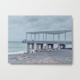 Napier Beach Viewing Platform Metal Print
