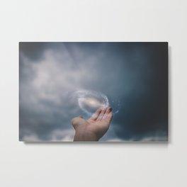 Universe on the Hand Metal Print