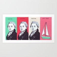 Monroe Monroe Monroe Your Boat Art Print
