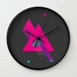 Geometric Composition 9C Wall Clock