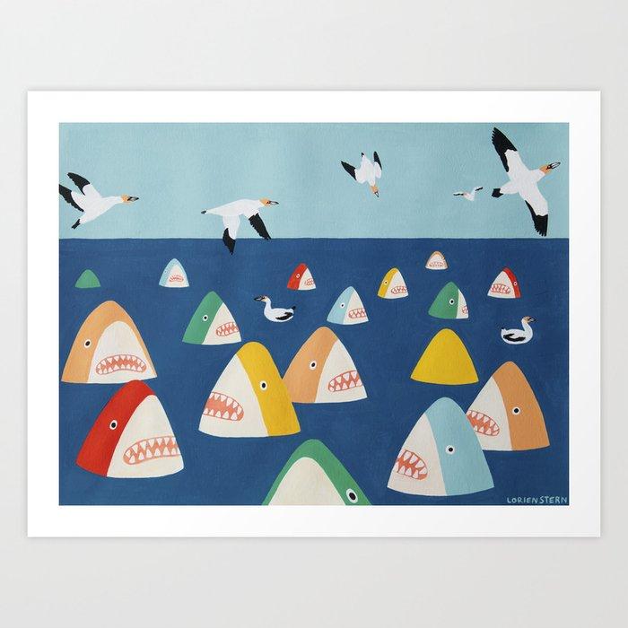 Shark Park Kunstdrucke