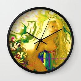 sexy blond Nude ladygodiva ladykashmir  Wall Clock