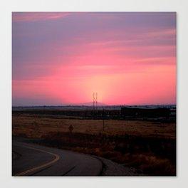 Sunset Versus Distribution Canvas Print