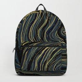Blue Gold Swirl Backpack