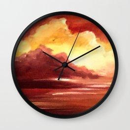 Red ocean Wall Clock