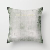 whatever Throw Pillows featuring Whatever by Sybille Sterk