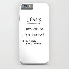Motivational handwriting iPhone Case